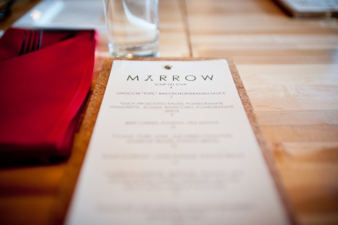 Marrow Menu